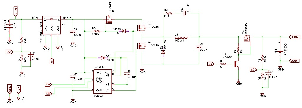 Circuit Schematic And Simulation Solar Powered Lithium